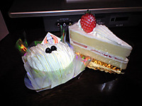 豆乳モンブラン・苺のショートケーキ