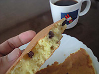 甘納豆入りホットケーキ