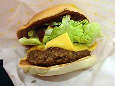 チーズイン&アウト肉厚ハンバーガー