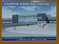 新函館北斗駅完成予想図