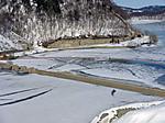 旧ダム堤頂
