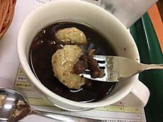 玄米餅のおしるこ(粒あん)