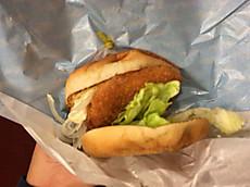 秋鮭バーガー