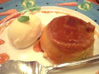 バニラアイス+かぼちゃプリン
