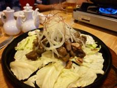 薩摩地鶏のガンガン炭焼き