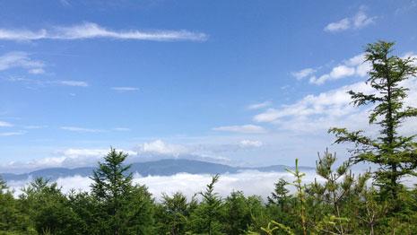7合目から見た雲海